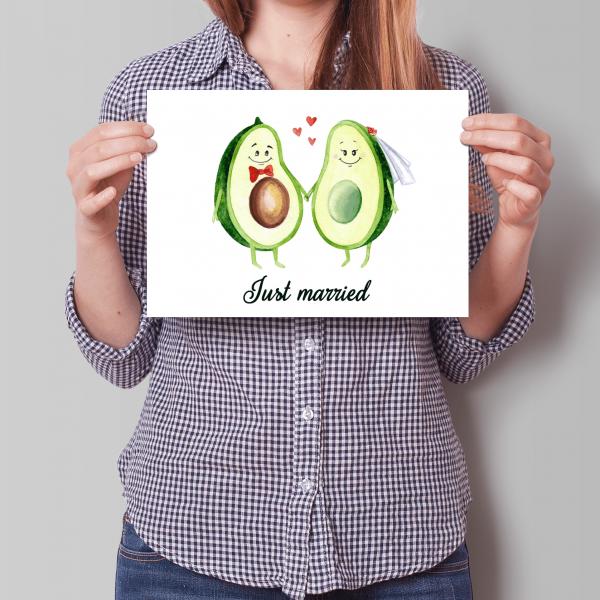XXL Avocados - Hochzeitskarte - A4 - Grußkarte