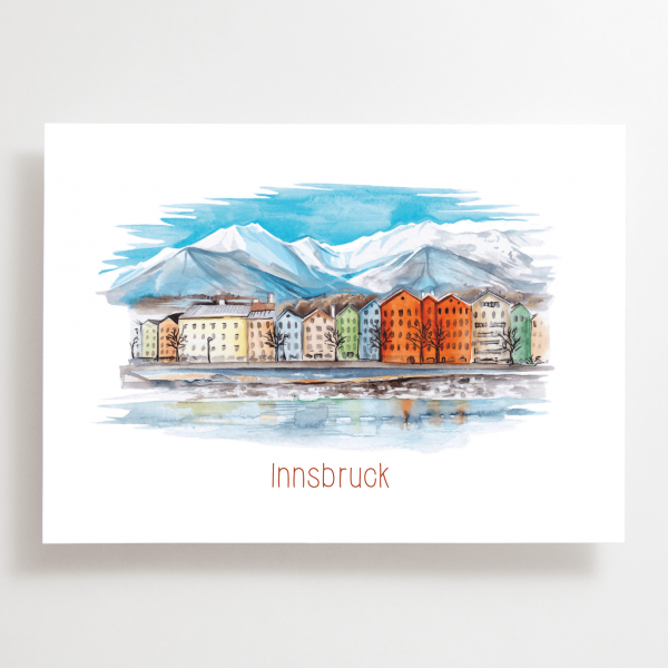 Innsbruck Mariahilf - Postkarte - Tirol - Österreich