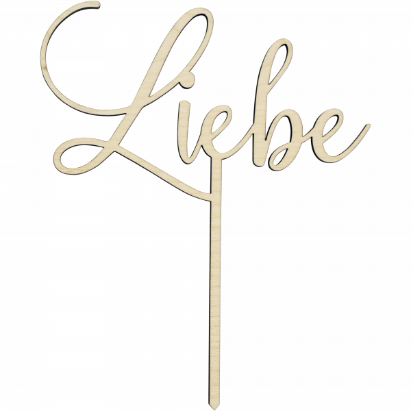 Liebe - Cake Topper
