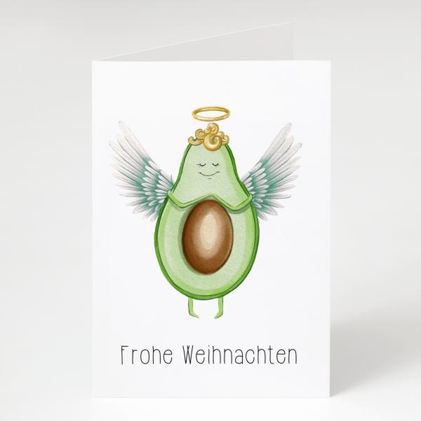 Frohe Weihnachten - Avocado - Grußkarte