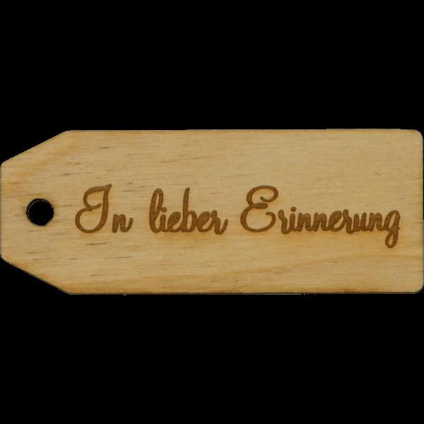 In lieber Erinnerung - Geschenk Anhänger ~9cm