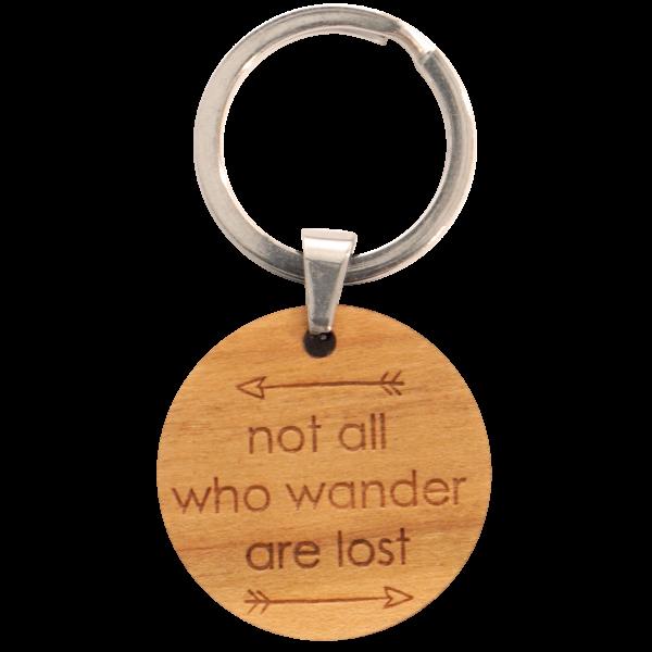 Not all who wander are lost - Schlüsselanhänger