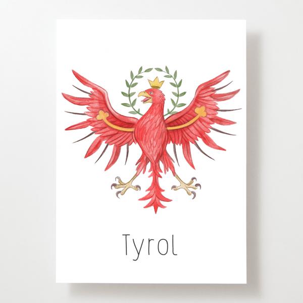Tiroleradler - Postkarte - Tirol - Österreich