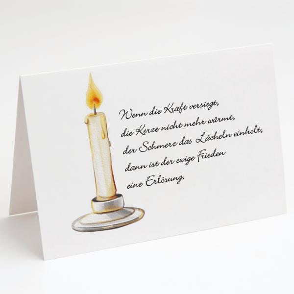 Kerze - Erlösung - Trauerkarte - Beileidskarte - Grußkarte