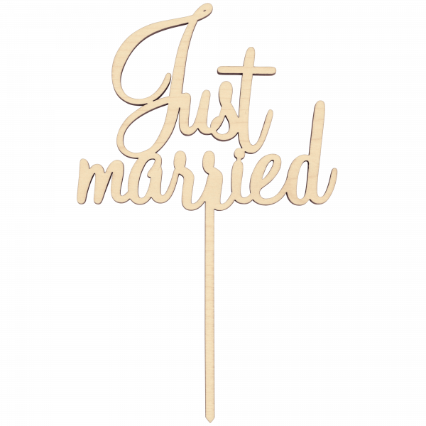 Just married - Cake Topper