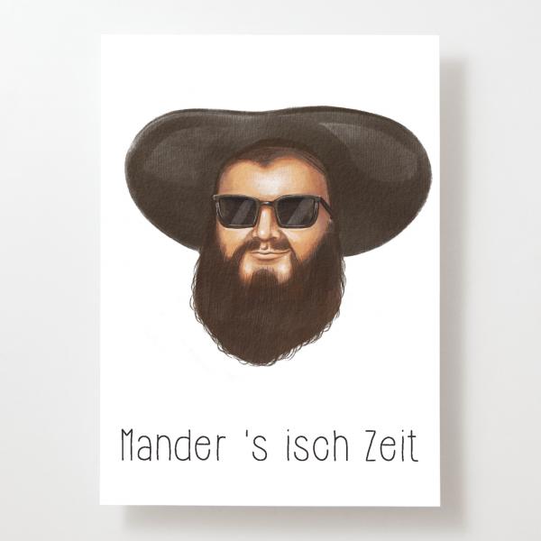 Mander 's isch Zeit - Andreas Hofer - Postkarte - Tirol - Österreich