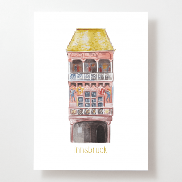 Goldenes Dachl - Innsbruck - Postkarte - Tirol - Österreich