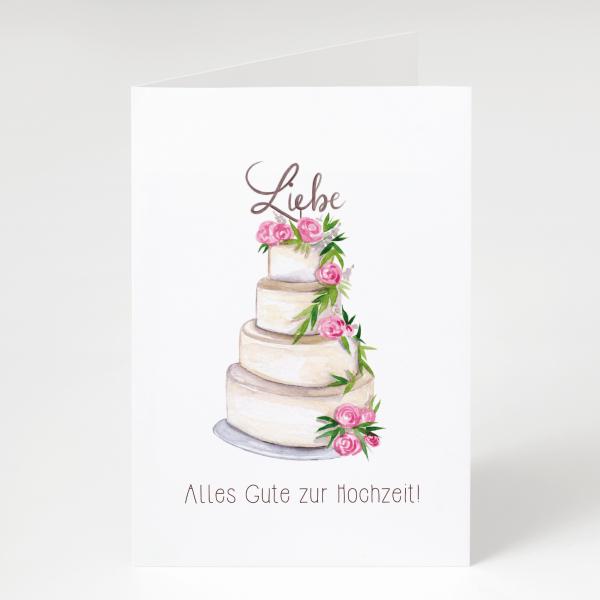 Torte - Hochzeitskarte - Grußkarte