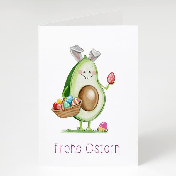 Frohe Ostern - Avocado - Grußkarte