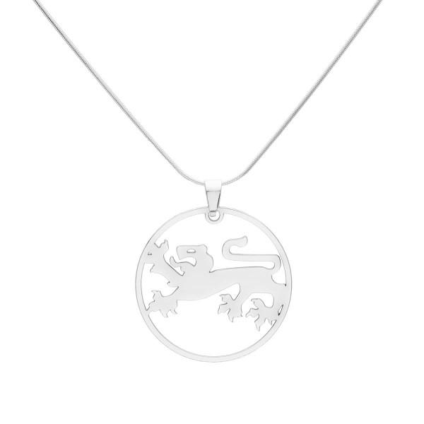 Kette mit großen Kärntner Löwe Anhänger- Silber Halskette