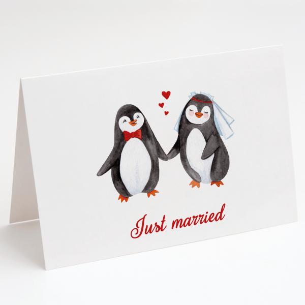 Pinguine - Hochzeitskarte - Grußkarte