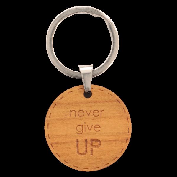 Never give UP - Schlüsselanhänger