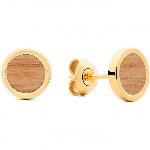 Ohrring Gold Kirschholz
