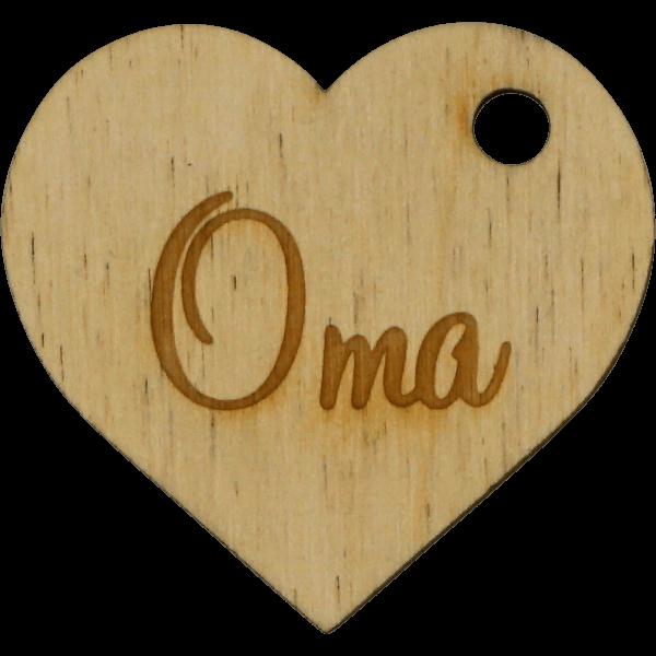 Oma Herz - Geschenk Anhänger ~5cm