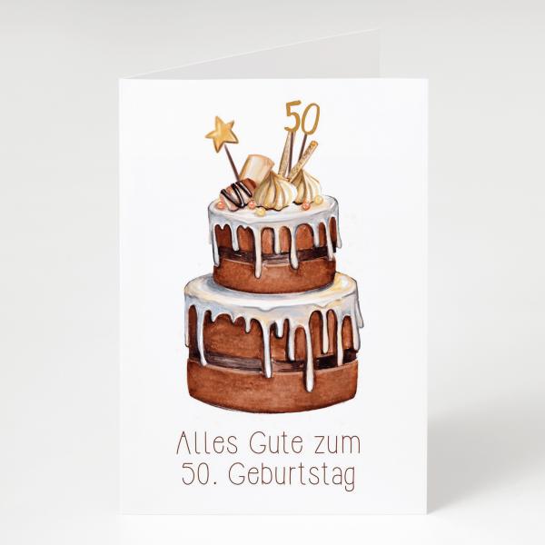 Alles Gute 50er - Geburtstagskarte - Grußkarte