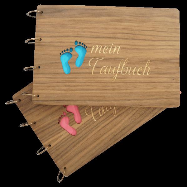Taufbuch - Holzbuch - Junge und Mädchen