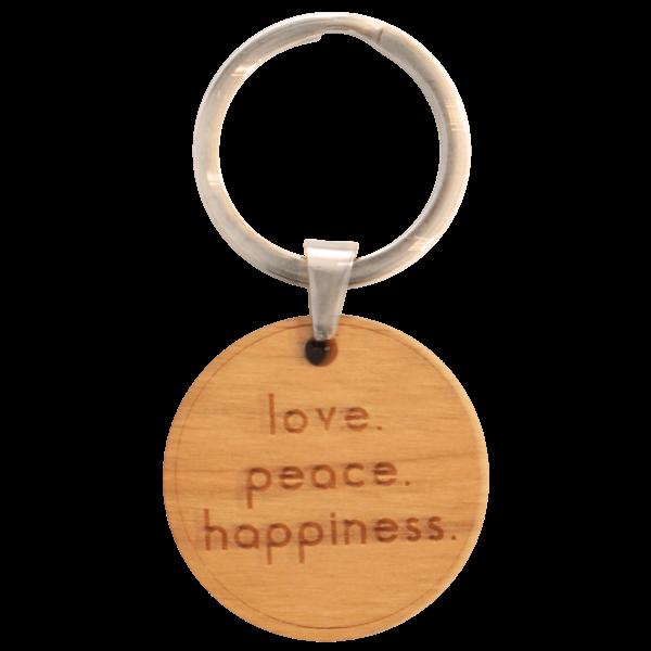 love peace happiness - Schlüsselanhänger