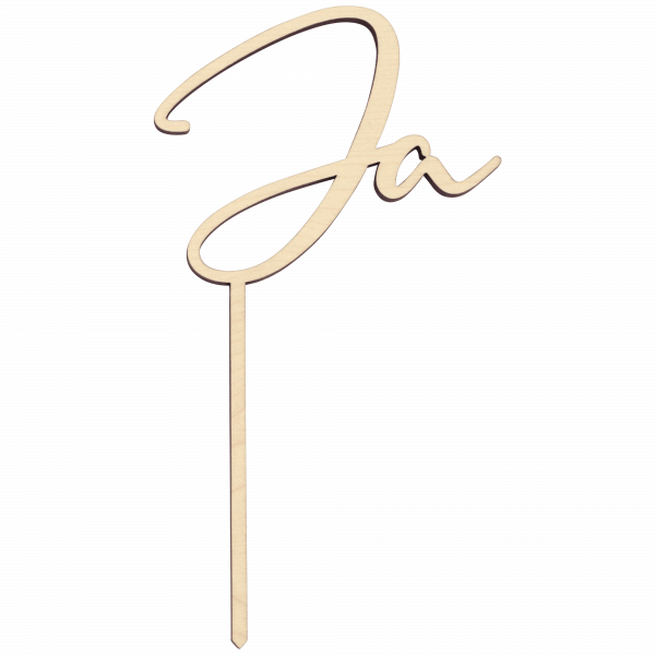 Ja - Cake Topper