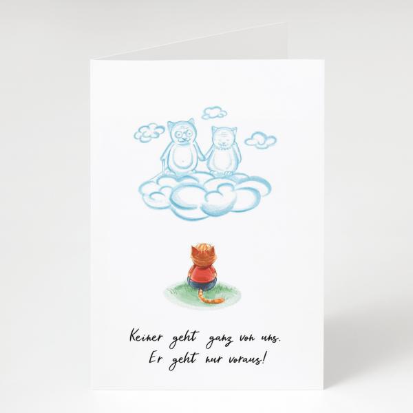 Vorausgehen - Trauerkarte - Beileidskarte - Grußkarte