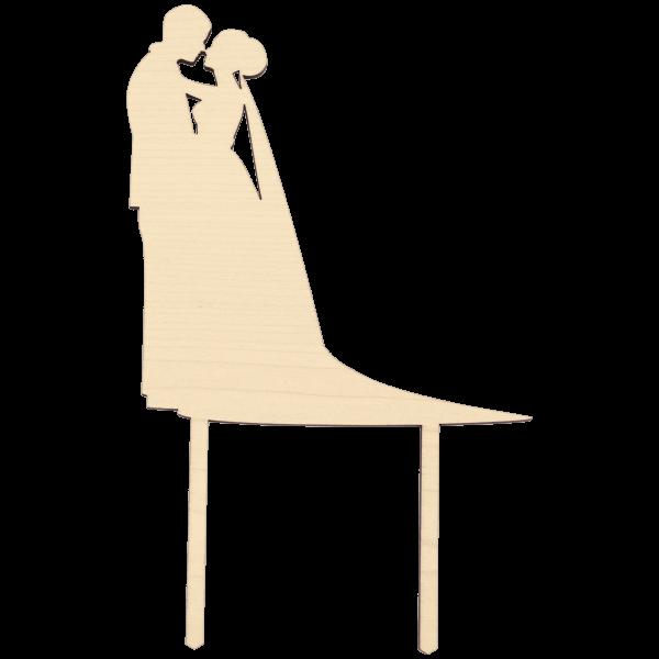 Silhouette Hochzeitspaar - Cake Topper