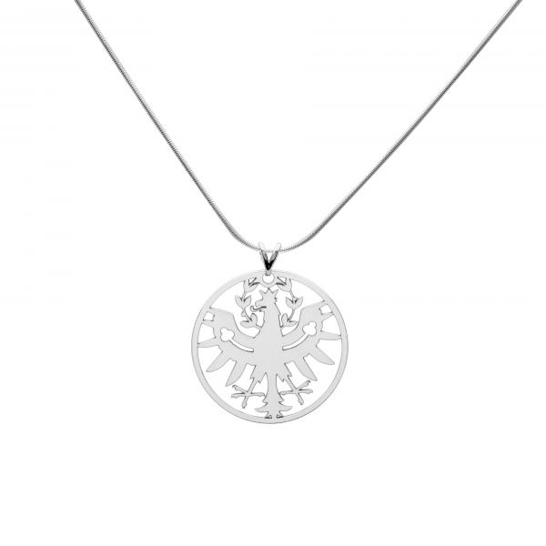 Kette mit großen Tiroler Adler Anhänger- Silber Halskette