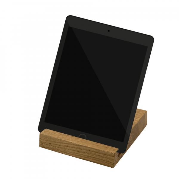 Tablet Halter aus Eichenholz