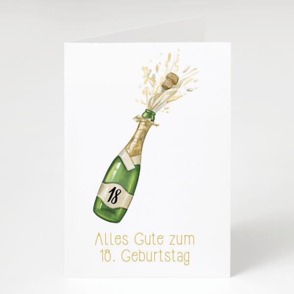 Alles Gute zum 18er - Geburtstagskarte - Grußkarte